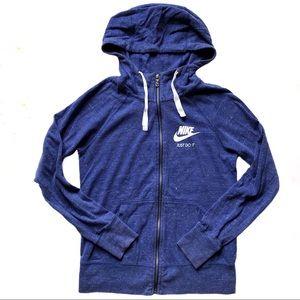 Nike Gym Vintage Full Zip Hoodie Purple/Blue